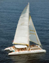 catamaran sailing in indonesia