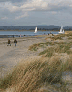 dandy beach on chichester harbour, united kingdom